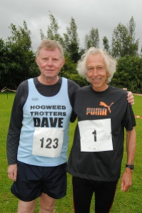 Former Olympic runner Nick Rose and Dave of the Hogweed Trotters